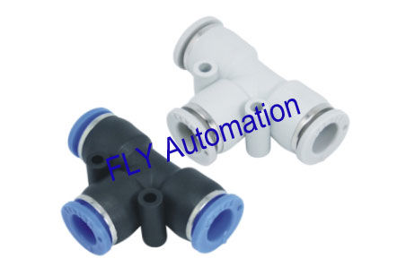 One Touch PE Union Pisco Tee Plastic Metric Pneumatic Tube Fittings